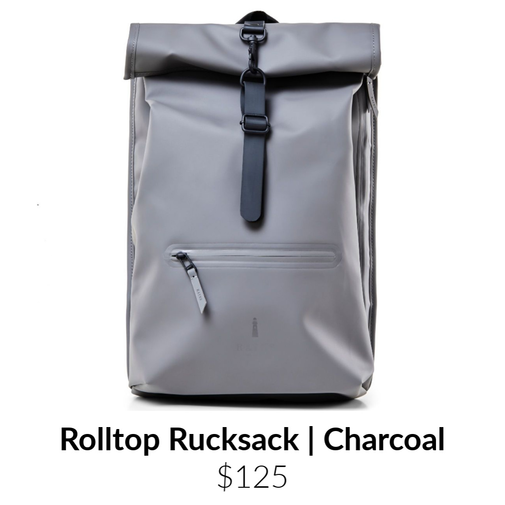 Rains Waterproof Rolltop Rucksack