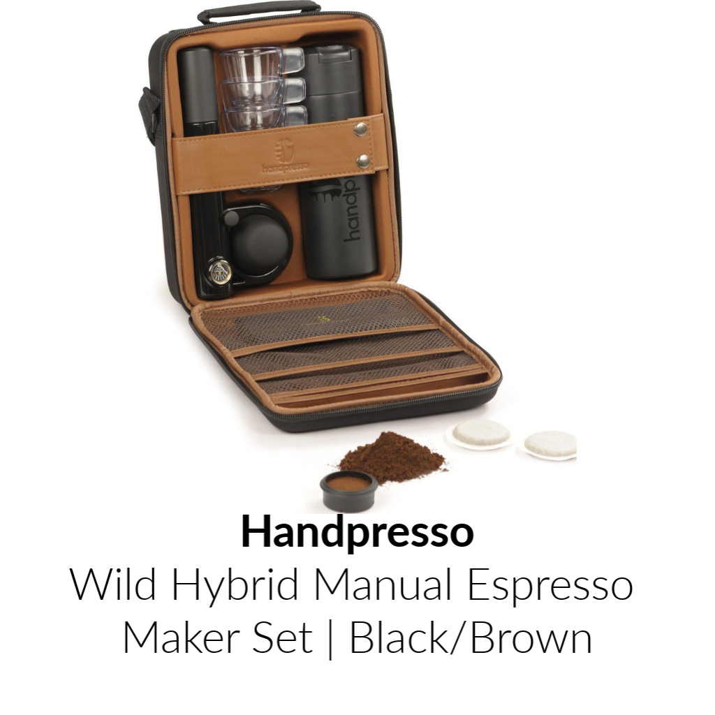 Handpresso Wild Hybrid Manuel Espresso Maker Set | Black/Brown