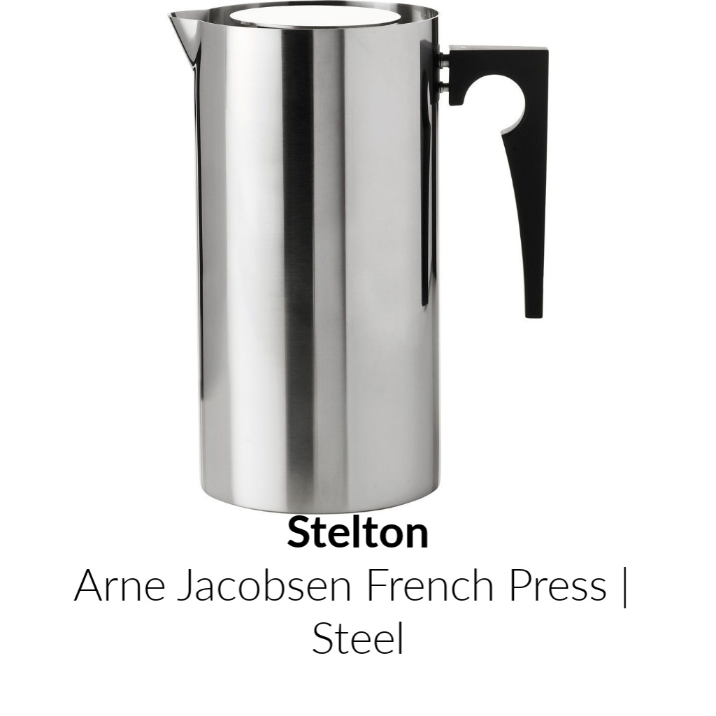 Stelton Arne Jacobsen French Press | Steel