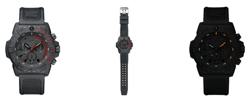 Luminox 3581 .EY All Black Mens Watch 3580 Series Navy Seal Chronograph Watch Grid