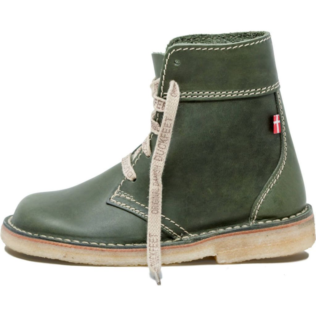 Duckfeet Faborg Lace Up Boots | Green