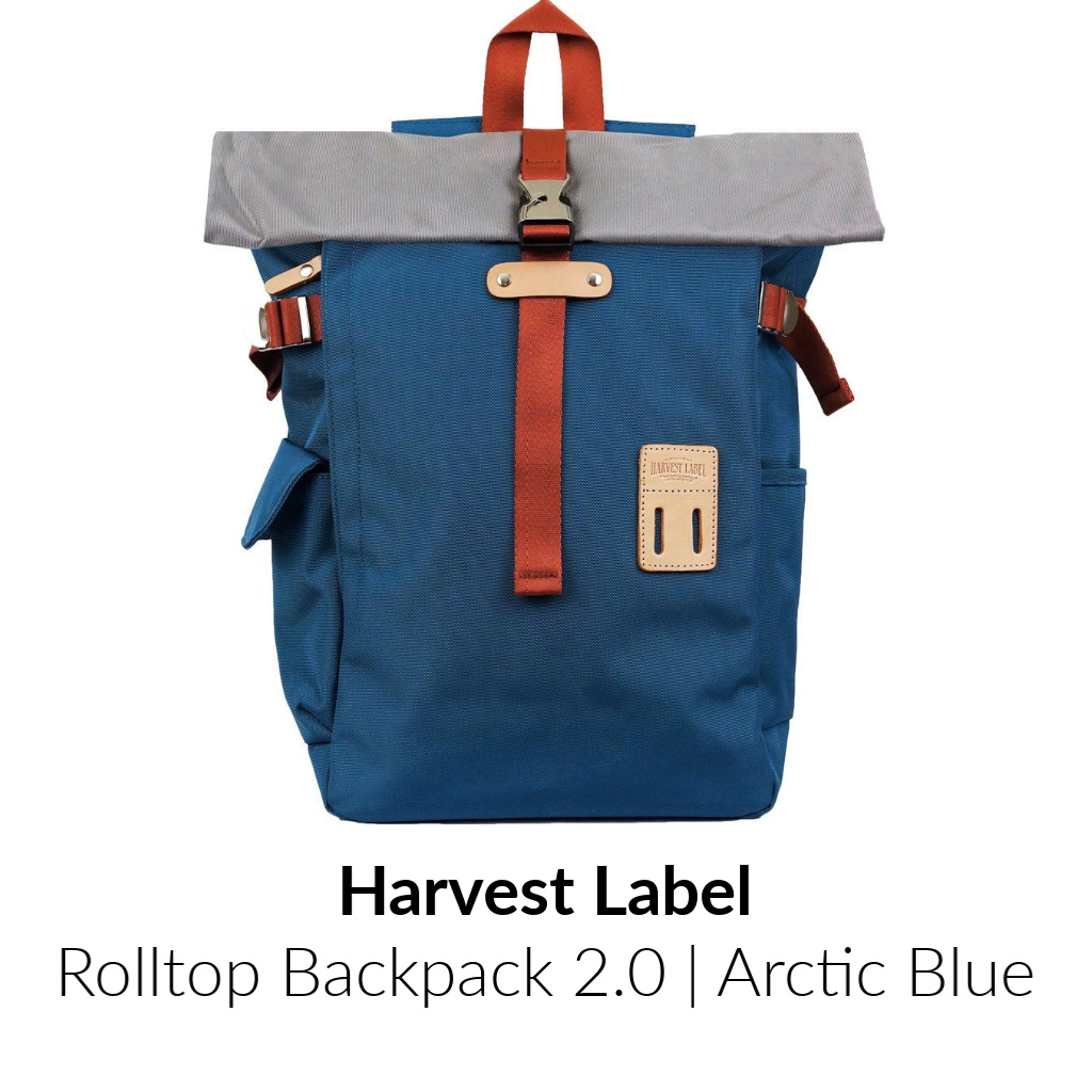 Harvest Label Rolltop Backpack 2.0 | Arctic Blue