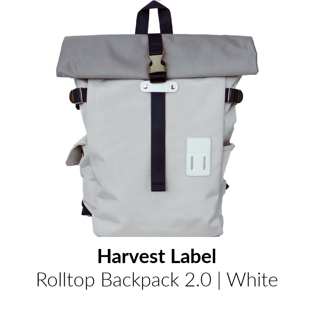 Harvest Label Rolltop Backpack 2.0 | White