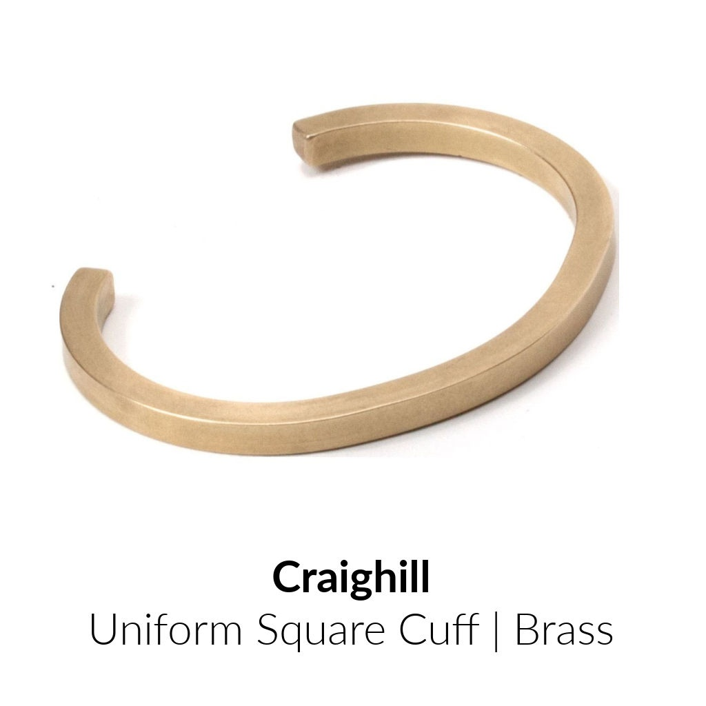 Craighill Uniform Square Cuff | Brass
