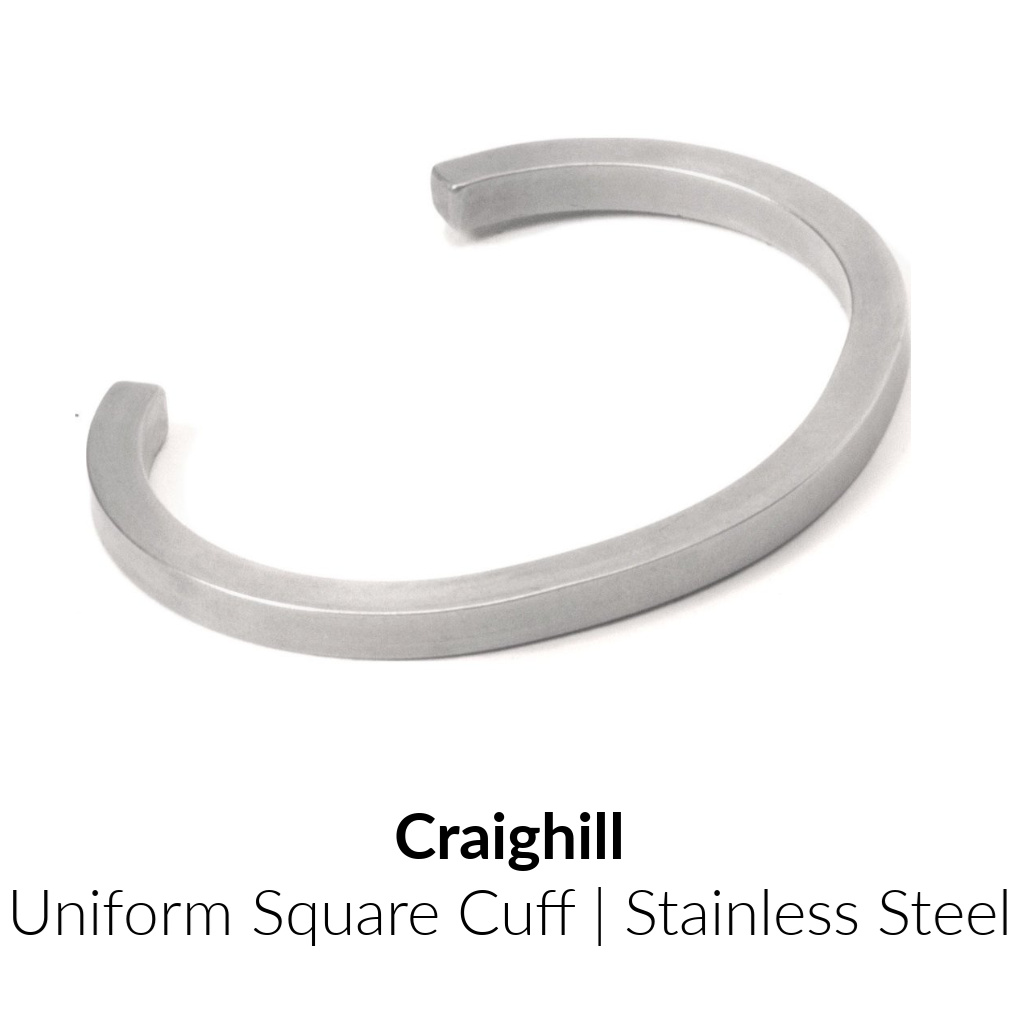 Craighill Uniform Square Cuff | Stainless Steel