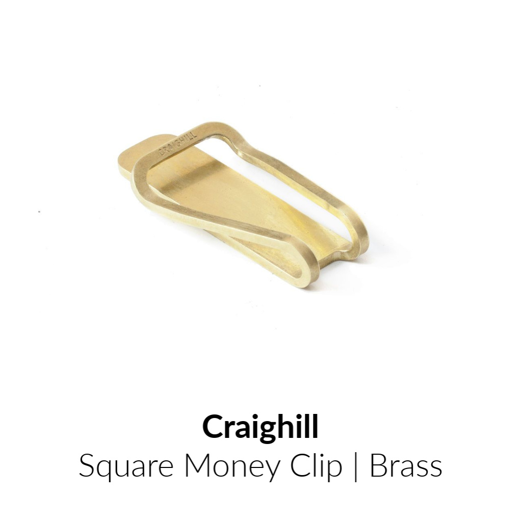 Craighill Square Money Clip | Brass