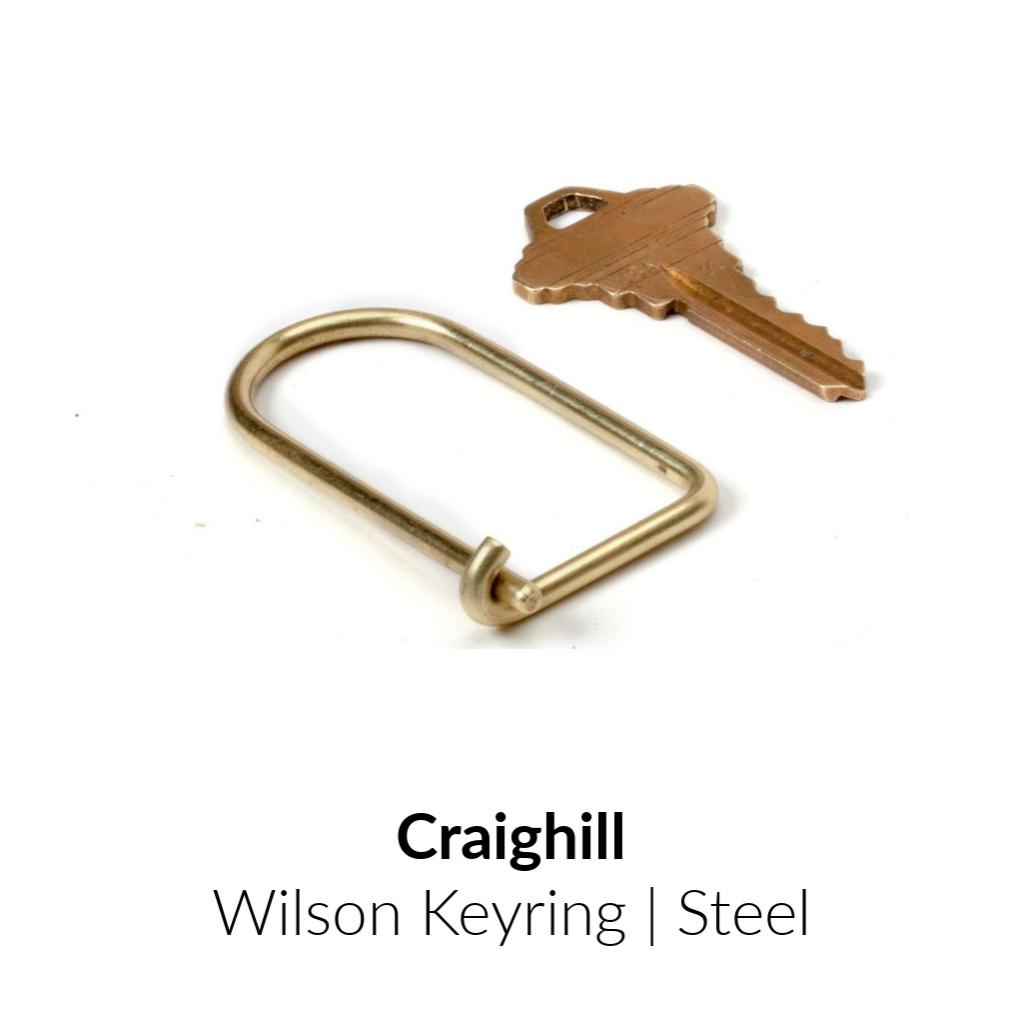 Craighill Wilson Keyring | Steel