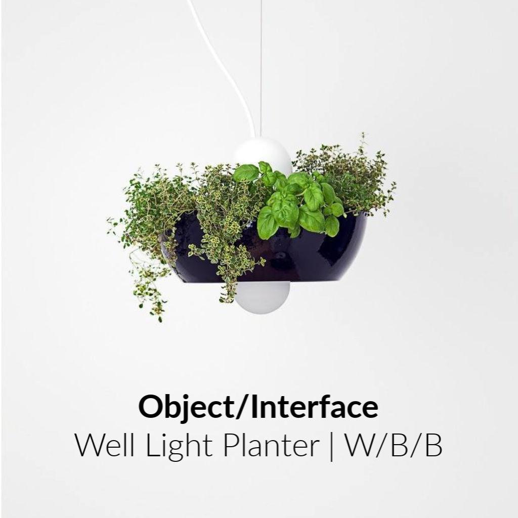 Object/Interface Well Light Planter | White/Black/Black