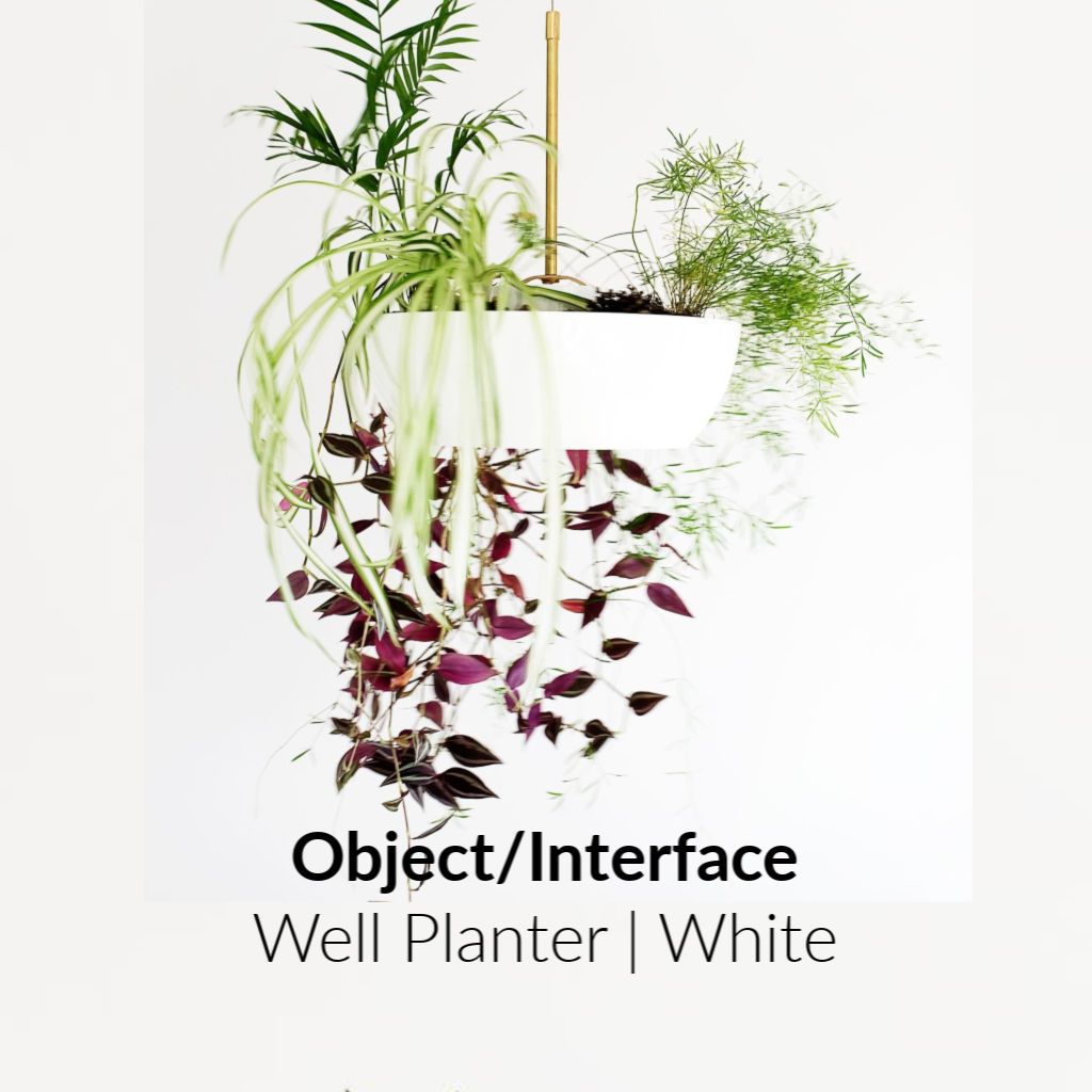 Object/Interface Well Planter | White